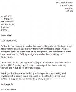 Letter Of Resignation 2 Weeks Notice Nurse from www.toresign.com